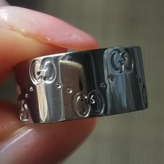 Gucci - グッチ GUCCI アイコンリング 指輪 K18 金 ゴールド WG ロゴ 美品