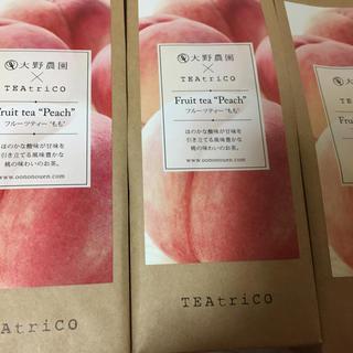新品 ティートリコ 大野農園 TEAtriCO フルーツティー もも 50g