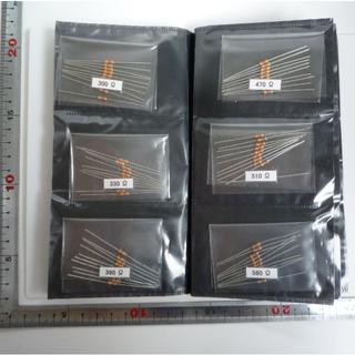 1/4Wカーボン抵抗 全種類(67種類 0Ω付)各10本 ホルダー入り【送料込】(その他)