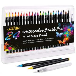 🌺 水彩毛筆 カラー 24色 水性筆ペン 🌺