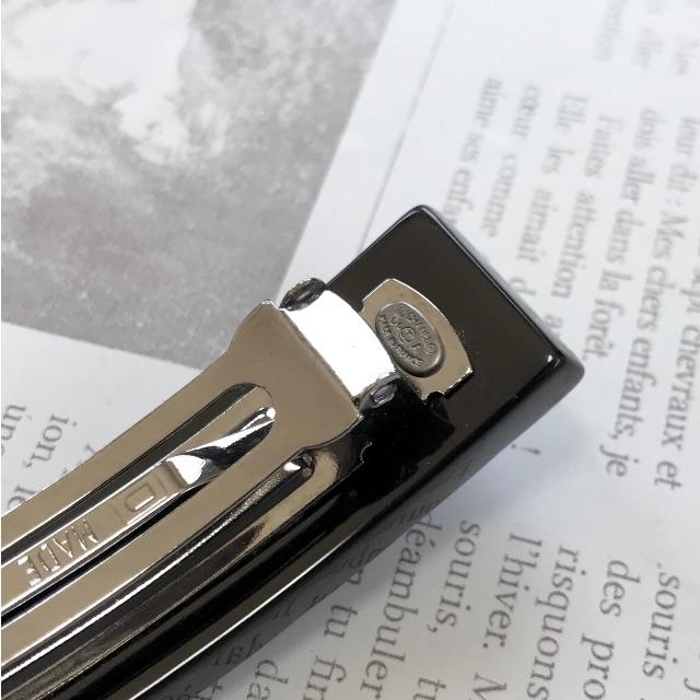 CHANEL(シャネル)の正規品 シャネル バレッタ チョコバー ココマーク マトラッセ ブラック 黒 レディースのヘアアクセサリー(バレッタ/ヘアクリップ)の商品写真