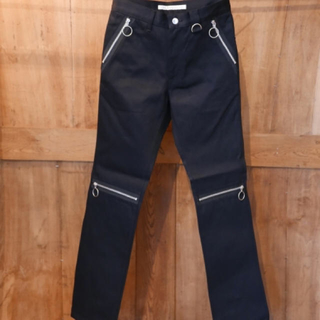 JOHN LAWRENCE SULLIVAN - 19ss サリバン RIGID DENIM ZIPPED JEANS