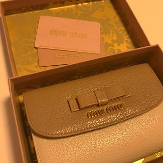 miumiu - miumiu   バイカラー リボン付き財布*