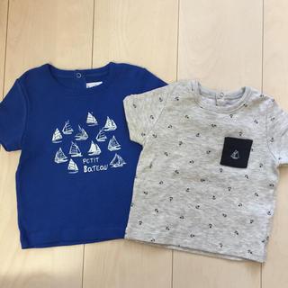 PETIT BATEAU - プチバトー 12m Tシャツ2枚セット