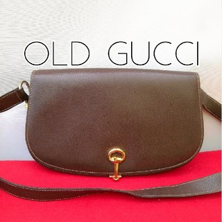 7b1522bde835 グッチ(Gucci)の美品 レア!オールドグッチ ホースビット ビンテージレザーショルダー. ショルダーバッグ