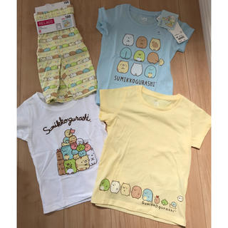 ユニクロ(UNIQLO)の未使用 ユニクロ すみっコぐらし Tシャツ & リラコ(Tシャツ/カットソー)