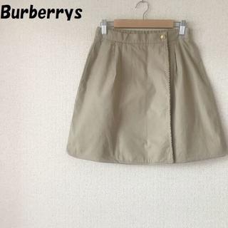 バーバリー(BURBERRY)の90'sバーバリー スカート ベージュ ノバチェック柄 サイズ150A 金ボタン(ミニスカート)