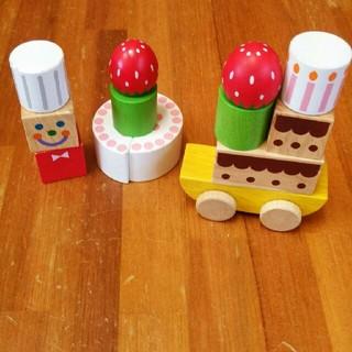 ボーネルンド(BorneLund)の値下不可 エドインター  つみきコレクション  ケーキショップ つみき ブロック(積み木/ブロック)