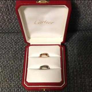 カルティエ(Cartier)の*カルティエ ラブリング K18  PG WG 46サイズ 6号*(リング(指輪))
