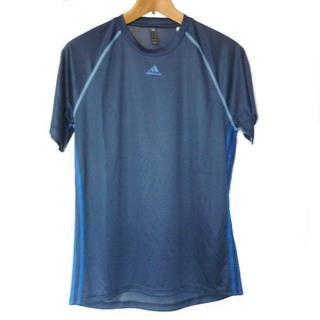 アディダス(adidas)の新品L★アディダス紺色3stクライマライトTシャツ(Tシャツ/カットソー(半袖/袖なし))