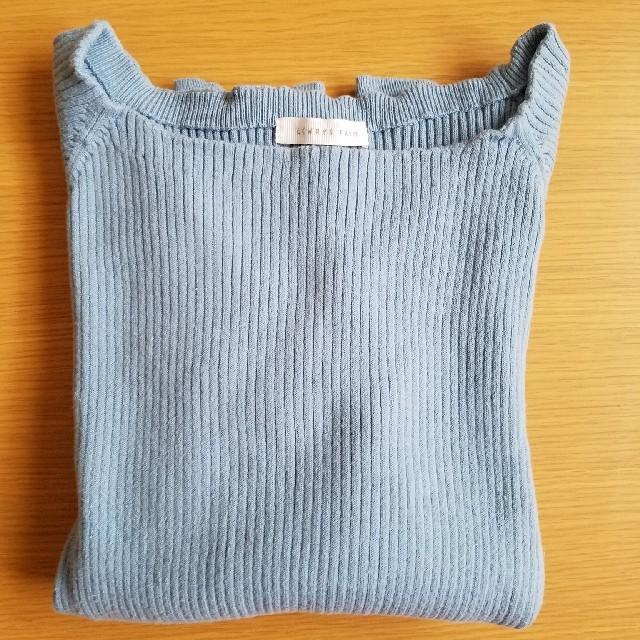 LOWRYS FARM(ローリーズファーム)のサマーニット ブルー 送料込み レディースのトップス(ニット/セーター)の商品写真
