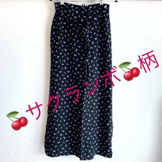 ドゥファミリー(DO!FAMILY)のドゥファミリー さくらんぼ柄 スカート(ロングスカート)