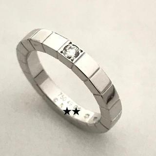 カルティエ(Cartier)の☆仕上済☆カルティエ☆ラニエールリング☆ダイヤモンド1P☆750WG☆49(リング(指輪))