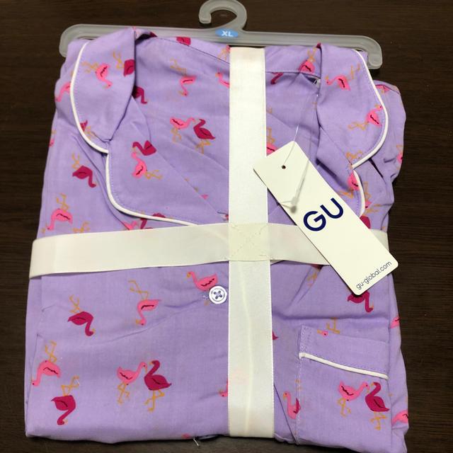 GU(ジーユー)のGU パジャマワンピース(フラミンゴ) レディースのルームウェア/パジャマ(パジャマ)の商品写真