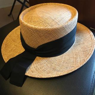 ドゥロワー(Drawer)の新品未使用 完売 Chapeau d'O カンカン帽(麦わら帽子/ストローハット)