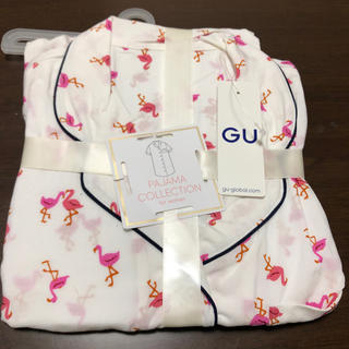 GU パジャマワンピース(フラミンゴ)WH