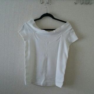 ノーブル(Noble)のNOBLE カットソー ホワイト Mサイズ(カットソー(半袖/袖なし))