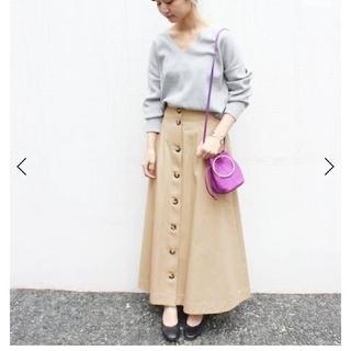 イエナ(IENA)のSLOVE IENA 新品ビッグボタンスカート(ロングスカート)