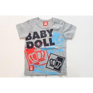 ベビードール(BABYDOLL)の529★セール★新品【ベビードール】80cm ロゴ半袖Tシャツ グレー(Tシャツ)