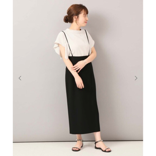 ノーブル(Noble)のmilk様 専用 NOBLE ショルダーストラップサロペットスカート  34(ロングスカート)