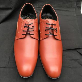薄ブラウンのビジネスシューズ26、5cm予備紐付き  16131(ドレス/ビジネス)