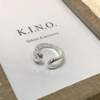シンプル silver925 Plated オープンリング(リング(指輪))
