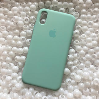 Apple - 箱なし iPhoneX マリングリーン Apple 純正 シリコン アップル