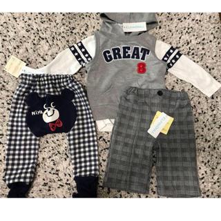 ニシマツヤ(西松屋)の新品!子供服3点セット90サイズ(その他)