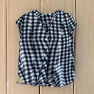 ジーユー(GU)のGU チェックシャツ ブラウス(シャツ/ブラウス(半袖/袖なし))