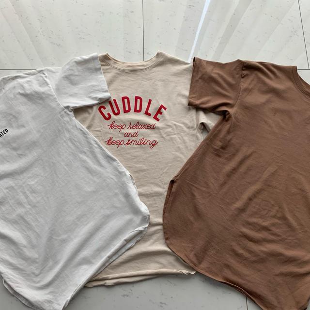 GU(ジーユー)のGUオーバーTシャツ3枚売り レディースのトップス(Tシャツ(長袖/七分))の商品写真
