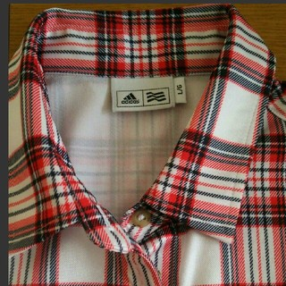 アディダス(adidas)の美品アディダス レディースLサイズ半袖ゴルフウエアです(ウエア)