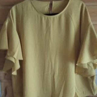 ジーユー(GU)のGUフレアースレーブブラウス(シャツ/ブラウス(半袖/袖なし))