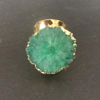 天然石 リング 指輪 グリーンA(リング(指輪))