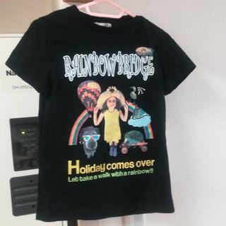 サマンサモスモス(SM2)のブラック プリントTシャツ(Tシャツ(半袖/袖なし))