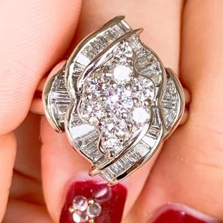 美品❗️ 2ct プラチナダイヤリング プラチナダイヤモンドリング(リング(指輪))