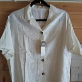 ジーユー(GU)のGUオープンカラーシャツ(シャツ/ブラウス(半袖/袖なし))
