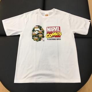 アベイシングエイプ(A BATHING APE)の国内正規 BAPE MARVEL CAMO TEE 白 XL(Tシャツ/カットソー(半袖/袖なし))