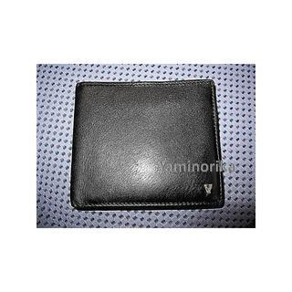 8dd1336c34eb ヴァレンティノ(VALENTINO)の【美品】 valentino cardini 折財布 本革 黒