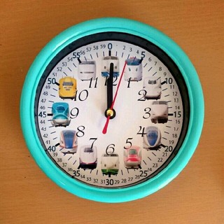 新幹線 分入り エメラルド 掛け時計