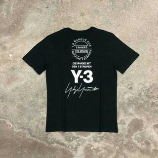 ヨウジヤマモト(Yohji Yamamoto)のヨウジヤマモト YOHJI YAMAMOTO Y3 Tシャツ 半袖 黒(Tシャツ/カットソー(半袖/袖なし))