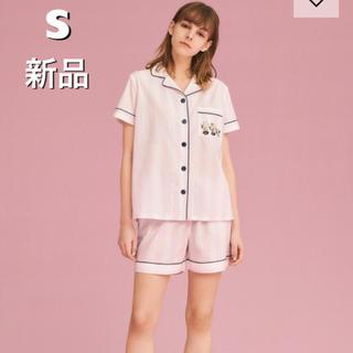 ジーユー(GU)の新品♡ジーユー パジャマ(半袖&ショートパンツ)Peanuts ピンク S(パジャマ)