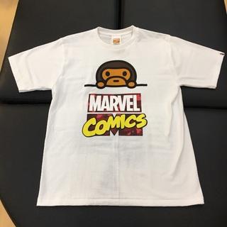 アベイシングエイプ(A BATHING APE)の国内正規 BAPE MARVEL COMIC MILO TEE 白 XL(Tシャツ/カットソー(半袖/袖なし))
