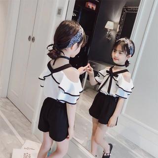 KSBS001可愛い子供、 キッズトップス+ ズボン(110-160)
