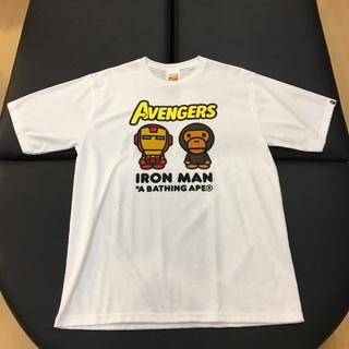 アベイシングエイプ(A BATHING APE)の国内正規 BAPE MARVEL MILO IRON MAN TEE 白XL(Tシャツ/カットソー(半袖/袖なし))