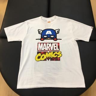 アベイシングエイプ(A BATHING APE)の国内正規 BAPE MARVEL コミック キャプテンアメリカ TEE 白 XL(Tシャツ/カットソー(半袖/袖なし))