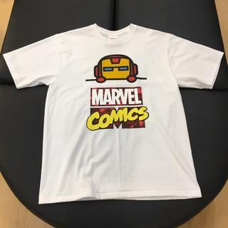 アベイシングエイプ(A BATHING APE)の国内正規 BAPE MARVEL COMIC IRON MAN TEE 白 XL(Tシャツ/カットソー(半袖/袖なし))