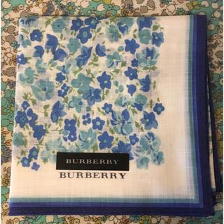 バーバリー(BURBERRY)の花柄のハンカチ(ハンカチ)