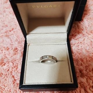 ブルガリ(BVLGARI)のBVLGARI ダブルロゴリング 指輪 ホワイトゴールド (リング(指輪))