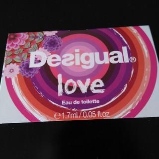 デシグアル(DESIGUAL)の香水サンプルdesigual love(香水(女性用))