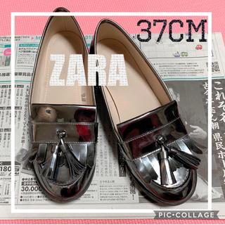 ザラ(ZARA)のZARA ローファー スリッポン 23.5cm 良品(ローファー/革靴)